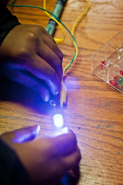 Lighting up LED at Mt Elliott Maker Space