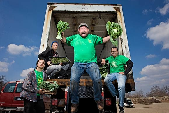 Jeremy Andrews and the Grown In BC Food Hub crew
